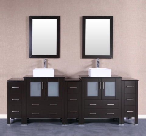 "Image of 96"" Bosconi AB230CBEBG3S Double Vanity"