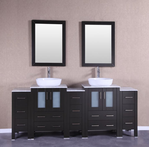 "Image of 84"" Bosconi AB224BWLCM3S Double Vanity"