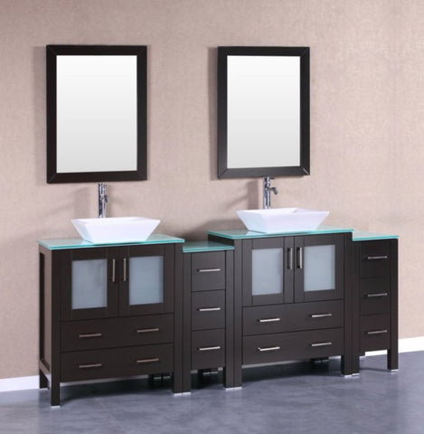 "Image of 84"" Bosconi AB230SQCWG2S Double Vanity"