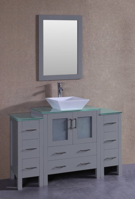 "54"" Bosconi AGR130SQCWG2S Single Vanity"