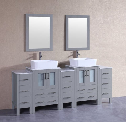 "Image of 84"" Bosconi AGR224RCCM3S Double Vanity"