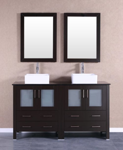 "Image of 60"" Bosconi AB230CBEBG Double Vanity"