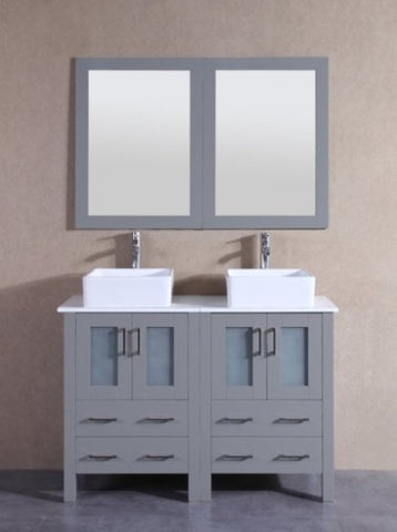 "Image of 48"" Bosconi AGR224CBEPS Double Vanity"