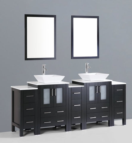 "Image of 84"" Bosconi AB224S3S Double Vanity"