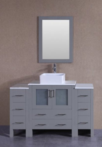 "Image of 54"" Bosconi AGR130CBEPS2S Single Vanity"