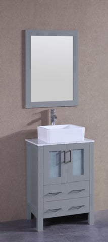 "Image of 24"" Bosconi AGR124CBECM Single Vanity"