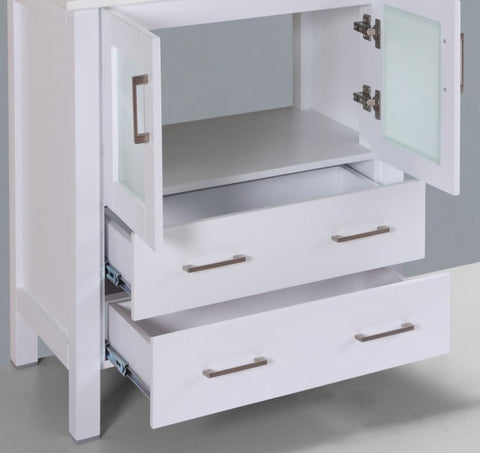 "Image of 30"" A-WH-30MC White Single Vanity Cabinet"