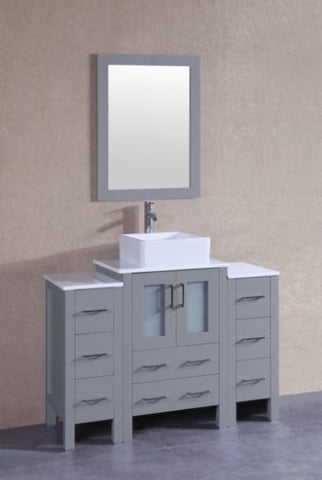 "Image of 48"" Bosconi AGR124CBEPS2S Single Vanity"
