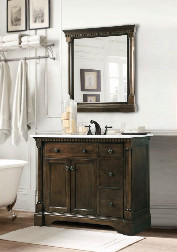 Legion Furniture WLF6036-M-24 in. Mirror - Antique Coffee