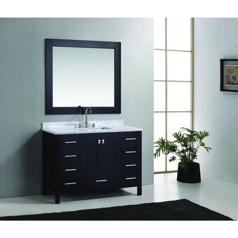 "Image of London 48"" Single Sink Vanity Set in Espresso Finish"