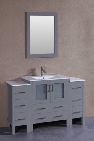 "Image of 54"" Bosconi AGR130U2S Single Vanity"