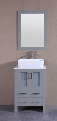 "Image of 24"" Bosconi AGR124RCCM Single Vanity"