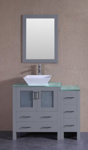 "Image of 42"" Bosconi AGR130SQCWG1S Single Vanity"