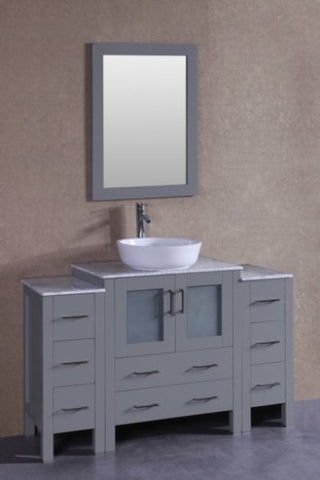 "Image of 54"" Bosconi AGR130BWLCM2S Single Vanity"