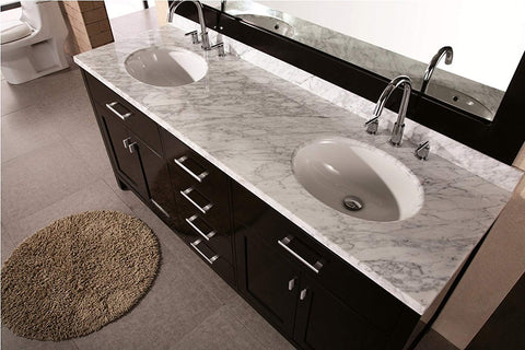 "Image of London 72"" Double Sink Vanity Set in Espresso Finish"