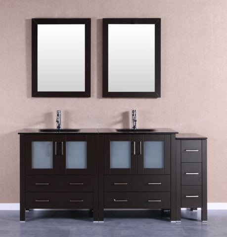 "Image of 72"" Bosconi AB230BGU1S Double Vanity"