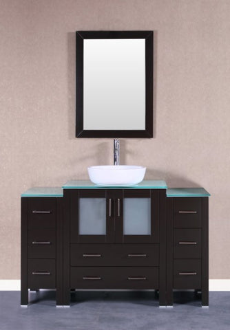 "Image of 54"" Bosconi AB130BWLCWG2S Single Vanity"