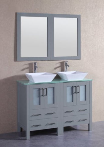 "Image of 48"" Bosconi AGR224SQCWG Double Vanity"