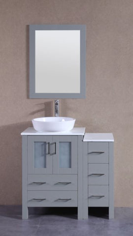 "Image of 36"" Bosconi AGR124BWLPS1S Single Vanity"