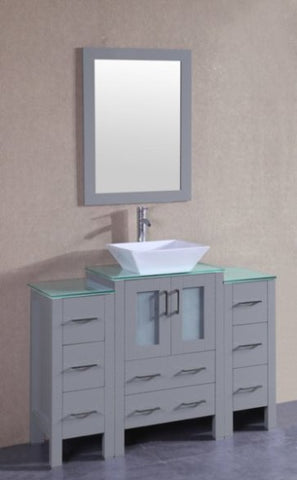 "Image of 48"" Bosconi AGR124SQCWG2S Single Vanity"