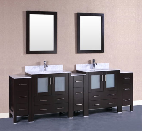 "Image of 96"" Bosconi AB230CMU3S Double Vanity"