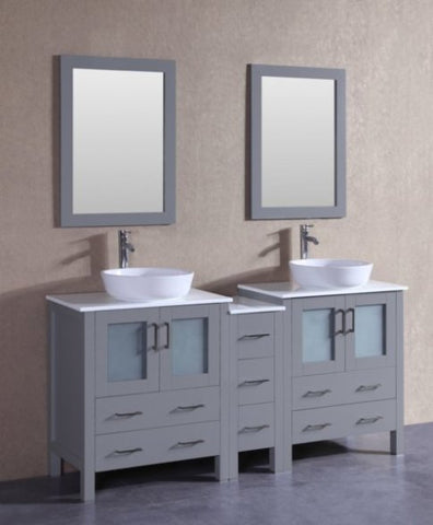 "Image of 72"" Bosconi AGR230BWLPS1S Double Vanity"