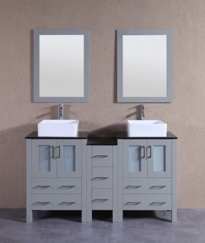 "Image of 60"" Bosconi AGR224CBEBG1S Double Vanity"