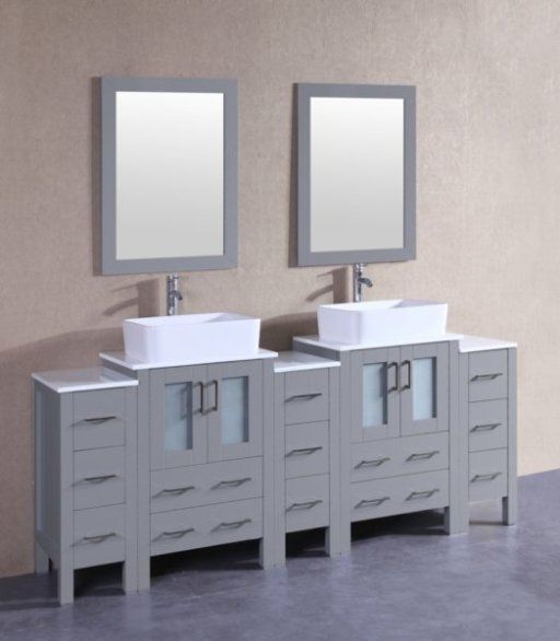 "84"" Bosconi AGR224RC3S Double Vanity"