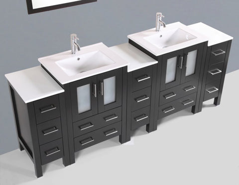 "Image of 84"" Bosconi AB224U3S Double Vanity"