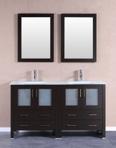"Image of 60"" Bosconi AB230EWGU Double Vanity"