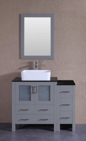 "Image of 42"" Bosconi AGR130RCBG1S Single Vanity"