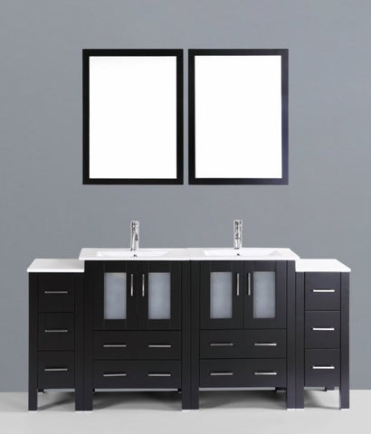 "Image of 72"" Bosconi AB224U2S Double Vanity"
