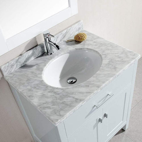 "London 30"" Single Sink Base Cabinet in White"