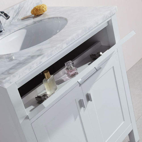 "Image of London 30"" Single Sink Base Cabinet in White"