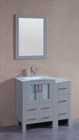 "Image of 24"" Bosconi AGR124EWGU Single Vanity"