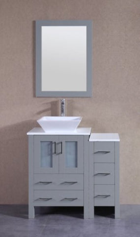 "Image of 36"" Bosconi AGR124S1S Single Vanity"
