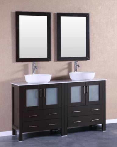 "Image of 60"" Bosconi AB230BWLCM Double Vanity"