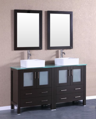 "Image of 60"" Bosconi AB230CBECWG Double Vanity"
