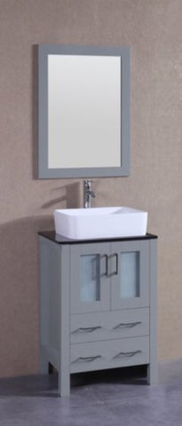 "Image of 24"" Bosconi AGR124RCBG Single Vanity"