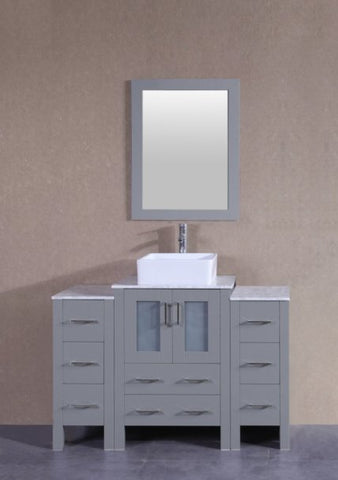 "Image of 48"" Bosconi AGR124CBECM2S Single Vanity"