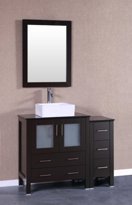 "42"" Bosconi AB130CBEBG1S Single Vanity"