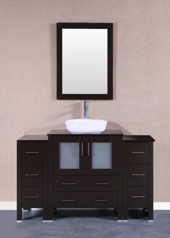 "Image of 54"" Bosconi AB130BWLBG2S Single Vanity"