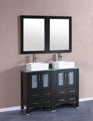 "Image of 48"" Bosconi AB224CBECWG Double Vanity"