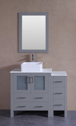 "Image of 42"" Bosconi AGR130CBEPS1S Single Vanity"