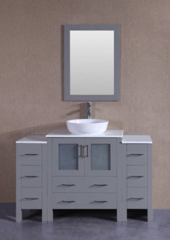 "Image of 54"" Bosconi AGR130BWLPS2S Single Vanity"