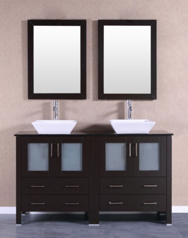 "Image of 60"" Bosconi AB230SQBG Double Vanity"