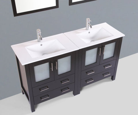 "Image of 60"" Bosconi AB230U Double Vanity"