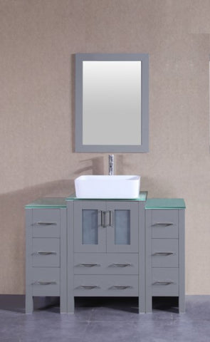 "Image of 48"" Bosconi AGR124RCCWG2S Single Vanity"