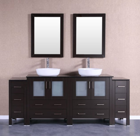 "Image of 84"" Bosconi AB230BWLBG2S Double Vanity"