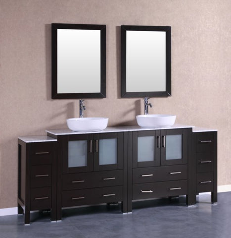 "Image of 84"" Bosconi AB230BWLCM2S Double Vanity"